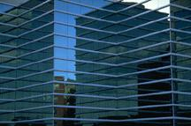 Glass office building for data processing and credit reporting