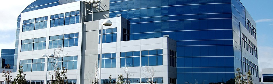 Image of an office building for credit reporting